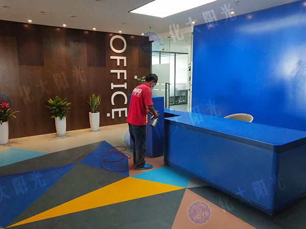 创E+集中办公区除甲醛、办公室去甲醛、办公室甲醛检测治理、室内空气净化项目