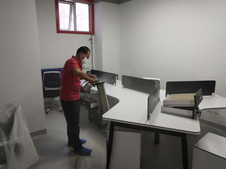 办公室甲醛治理施工现场