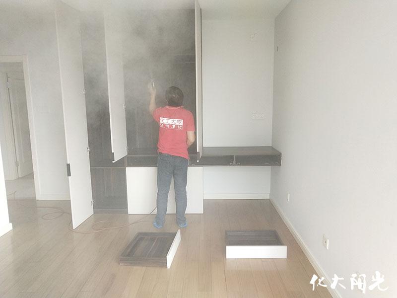 新房装修除甲醛化大阳光先治理后收费15年质保