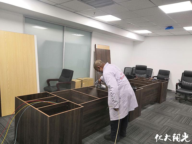 装修办公室除甲醛化大阳光新办公室装修后去除甲醛